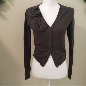 CAbi Taupe Brown Button Down Cardigan Size XS